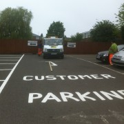 customer parking linemarking