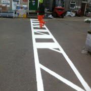 pedestrian crossing markings sutton