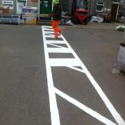 pedestrian crossing markings sutton