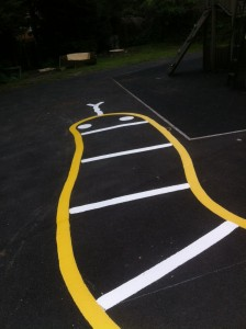 snake marking for a school lineways