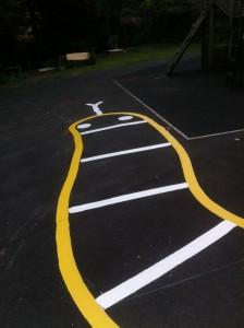 snake marking for a school lineways